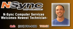 N-Sync Computer Services Welcomes Newest Technician- Chad Hafer