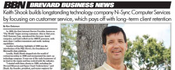 N-Sync President and Senior Engineer Keith Shook Featured in Brevard Business News