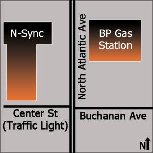 NSync Location on Map