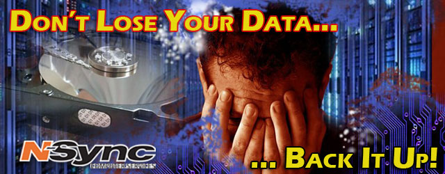Don't Lose Your Data... Back It Up!