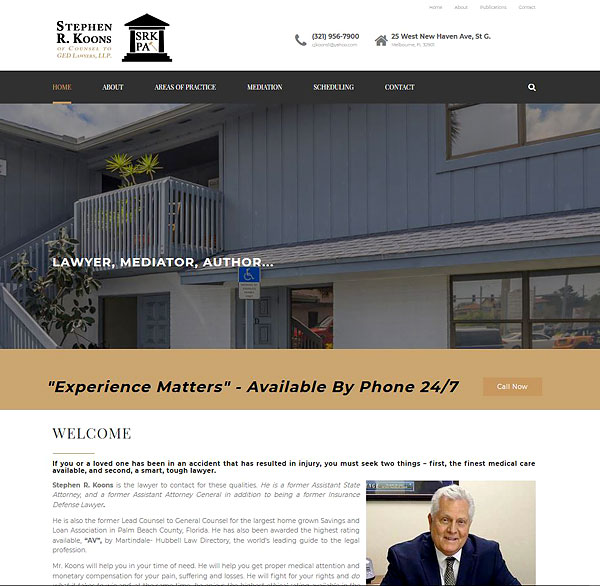 N-Sync Launches New Website for Attorney Stephen R. Koons